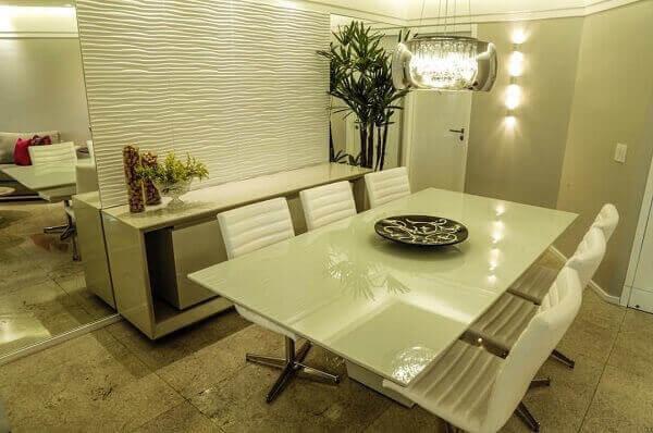 mesa para sala de jantar em vidro