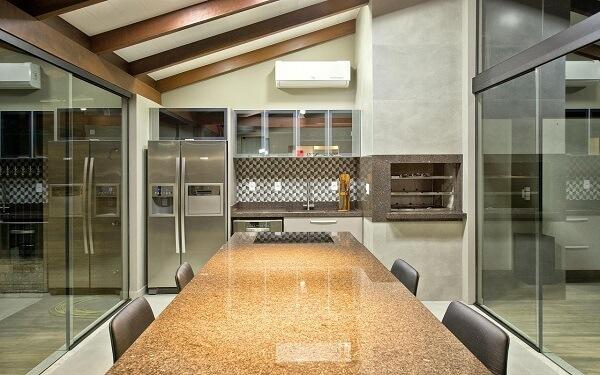 mesa para sala de jantar granito bege