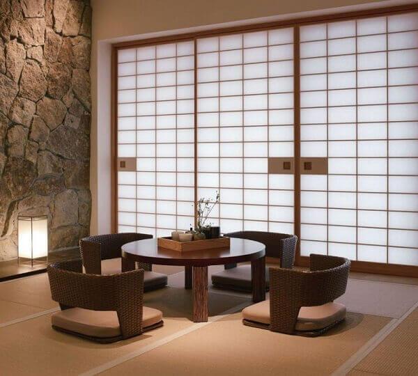 mesa para sala de jantar japonês