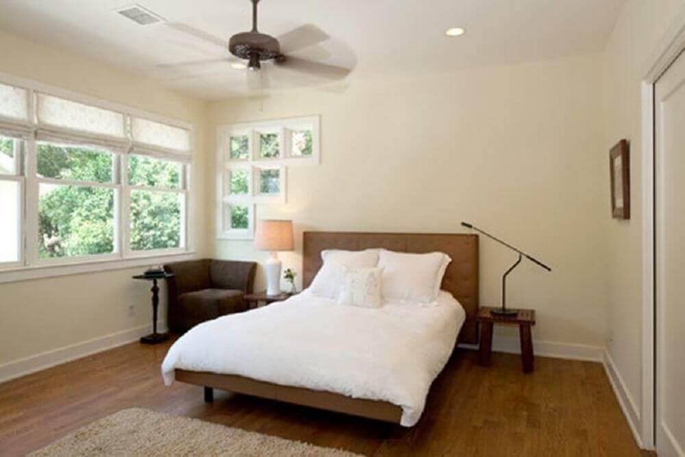 minimalismo para decoração de quarto de casal