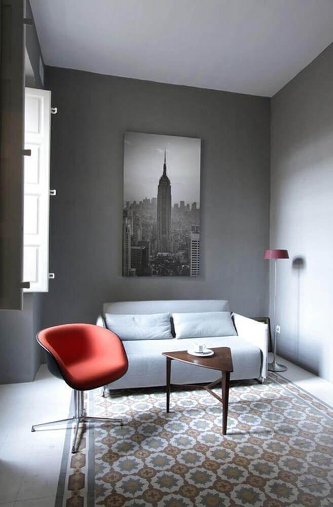 minimalismo para decoração de sala pequena