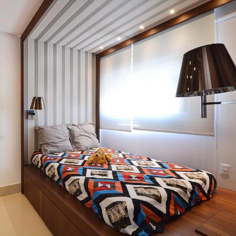 modelo de cama japonesa de solteiro