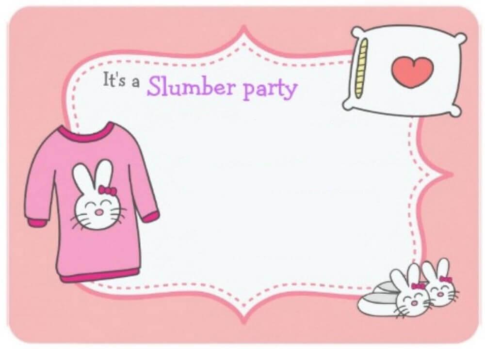 modelo de convite para festa do pijama