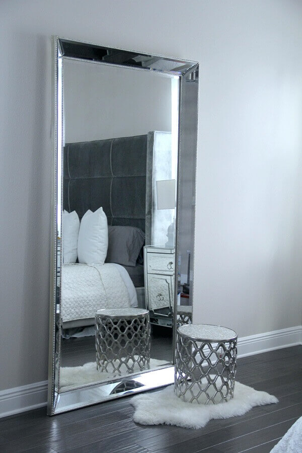 modelo de espelho bisotado de piso