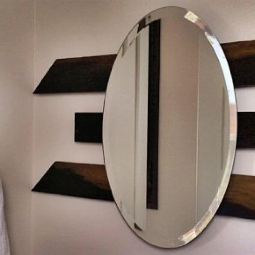 modelo de espelho bisotado redondo