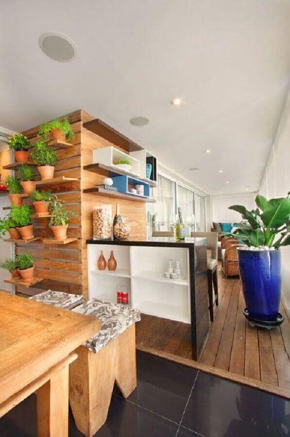 modelo de mini horta para varanda de apartamento