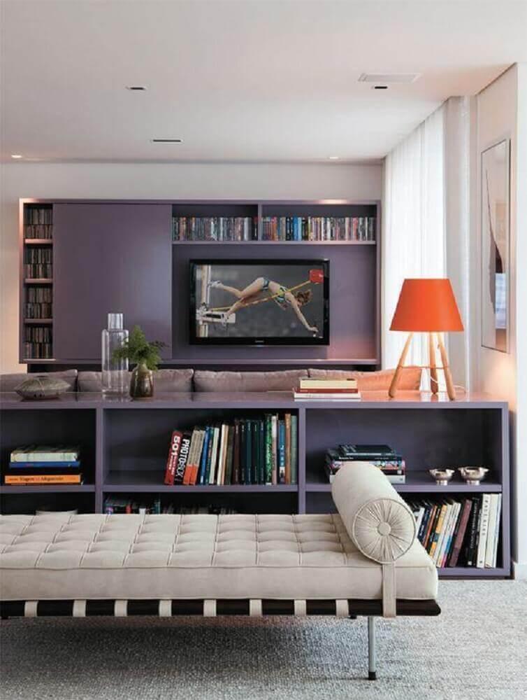 modelo de painel planejado para sala pequena