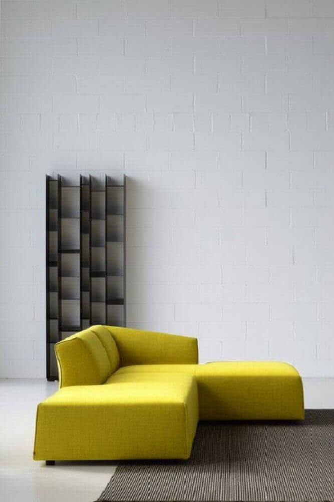 modelo de sofá moderno modular amarelo