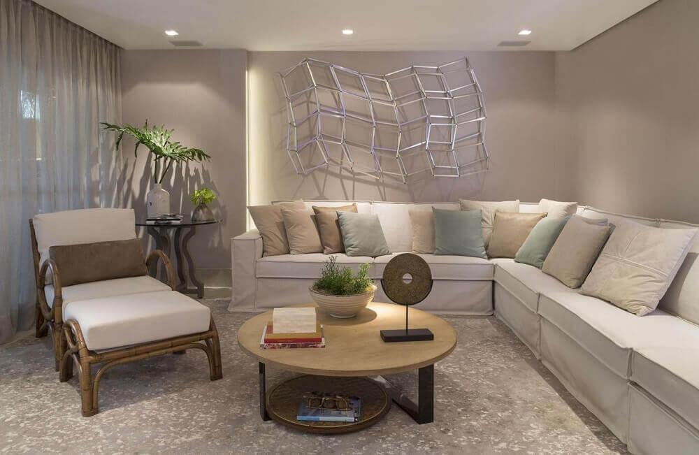 modelo de sofá para sala com azul tiffaby