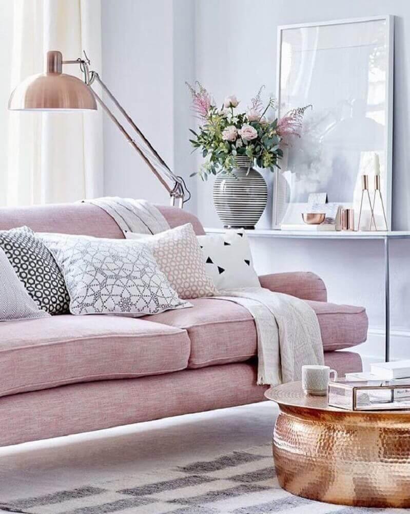 modelo de sofá para sala pequena e clean