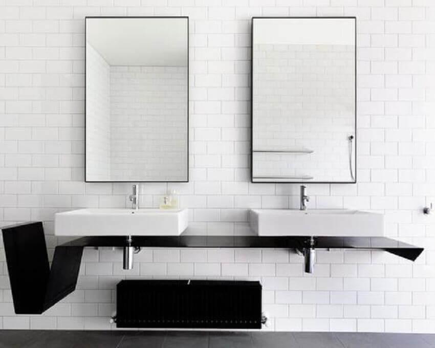 modelos de espelho para decoração minimalista
