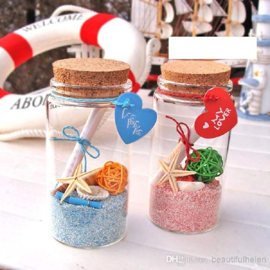 modelos de lembrancinhas para casamento simples na praia