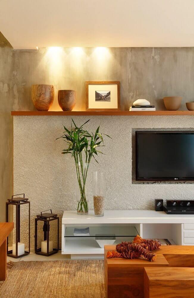 modelos de painel para sala com TV embutida