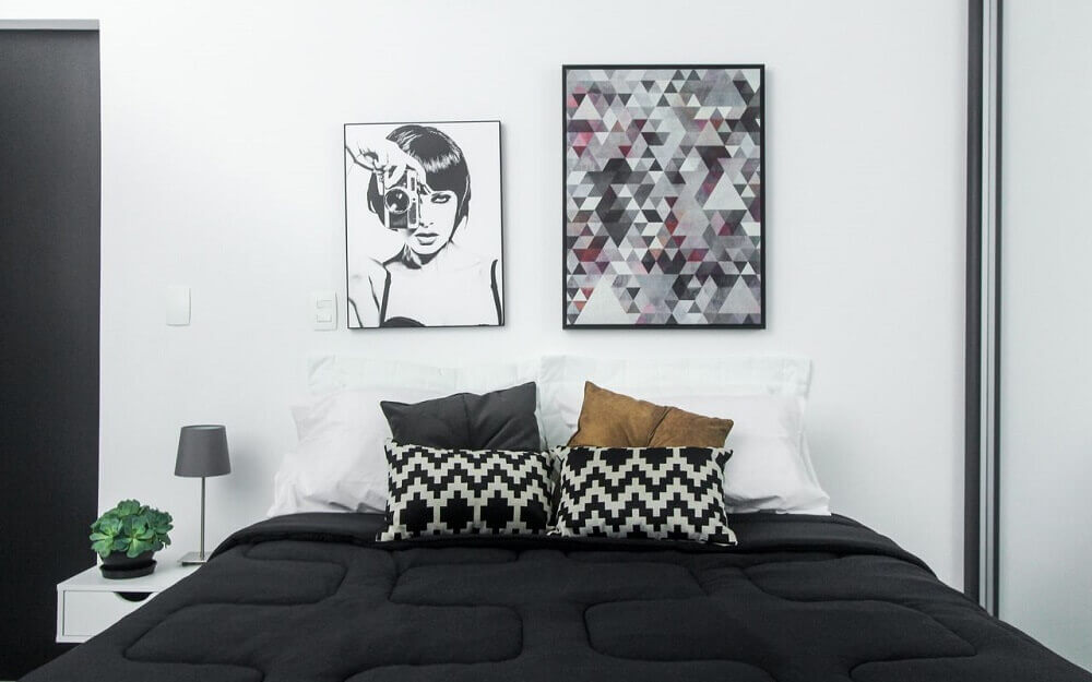 modelos de quadros minimalistas para decoração de quarto
