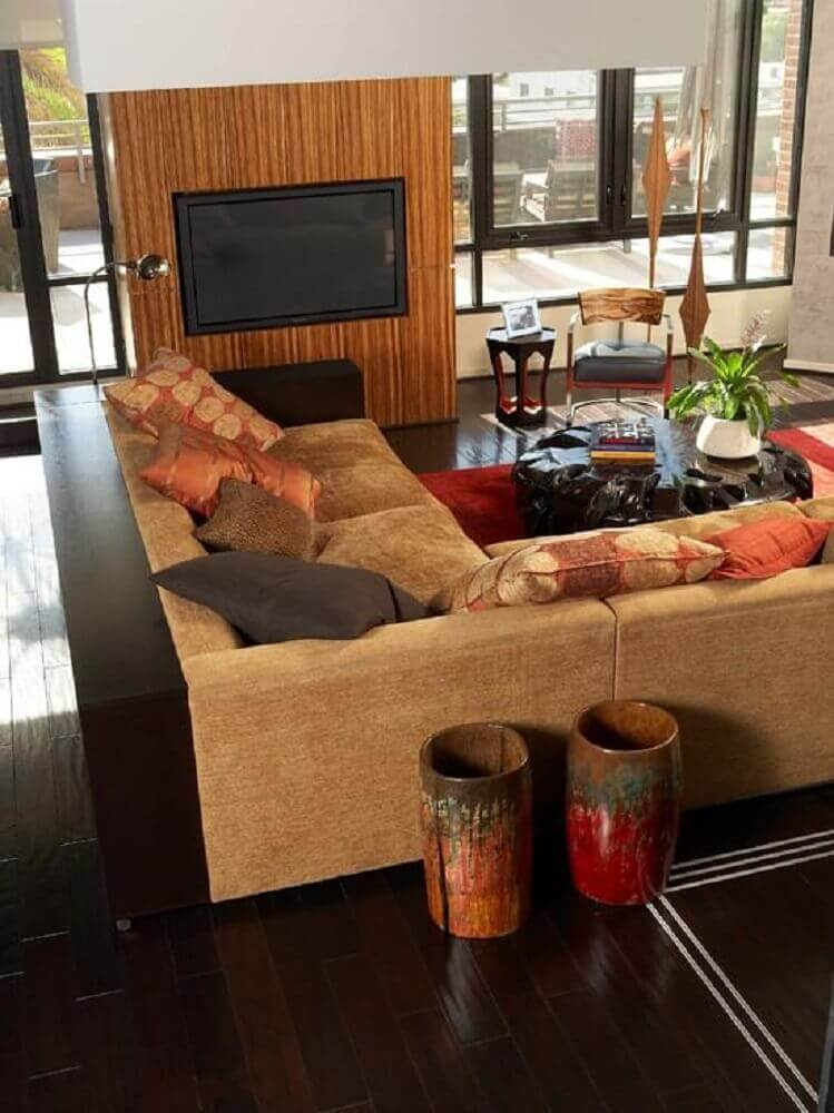 modelos de sofá de canto para sala de TV