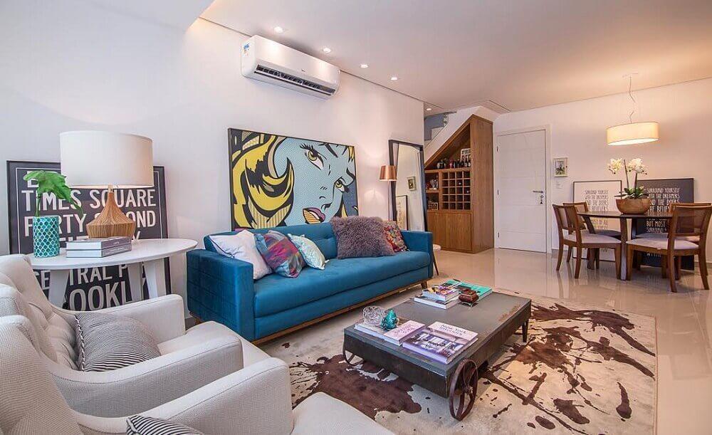 modelos de sofá para sala com decoração moderna