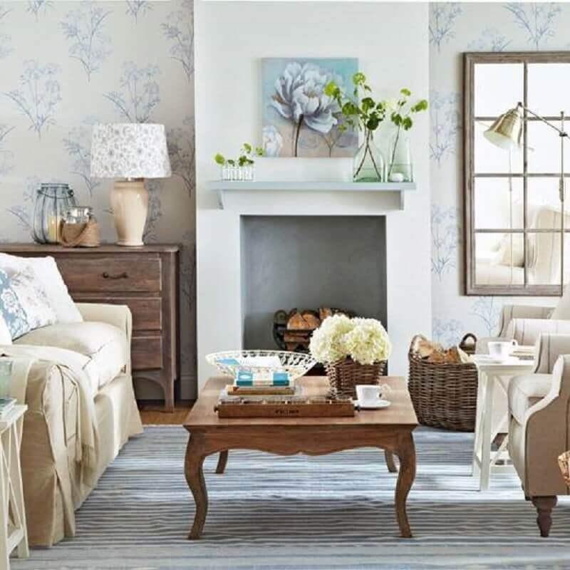 moveis provençal rústico para decoração de sala