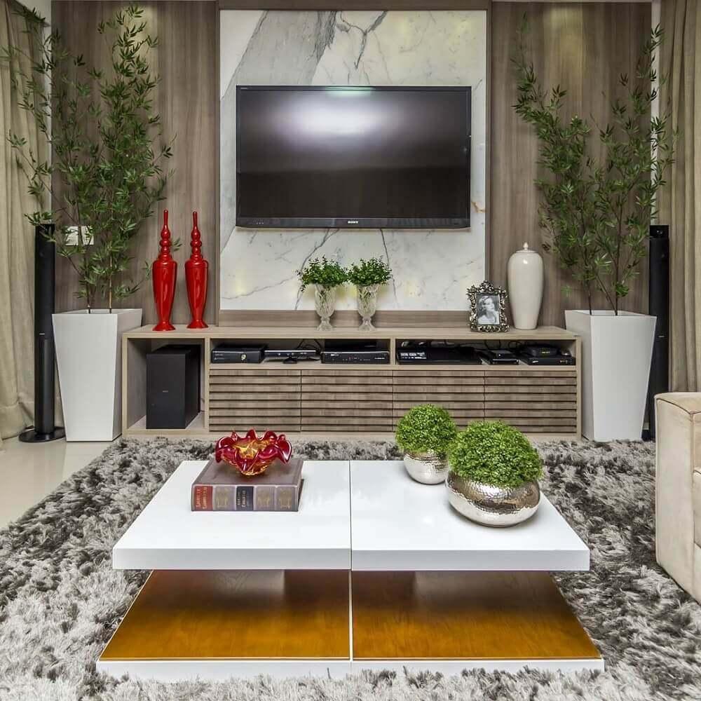 painel para sala de estar de mármore