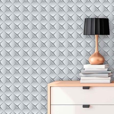 papel de parede 3d - papel de parede 3d ao lado de criado mudo
