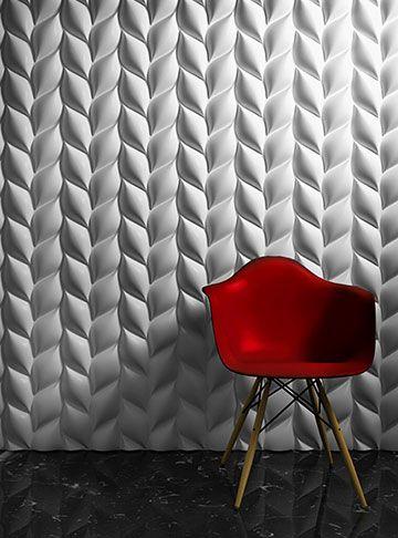 papel de parede 3d - papel de parede 3d em formato de folhas