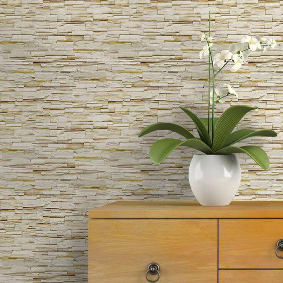 papel de parede 3d - papel de parede 3d em tijolos