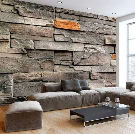 papel de parede 3d - papel de parede 3d que imita rochas