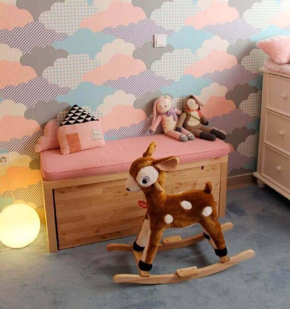 papel de parede para decoração de quarto infantil feminino