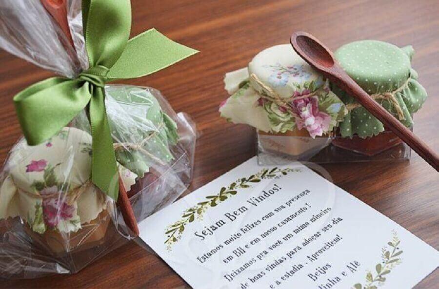 potinhos de doces de lembrancinhas de casamento