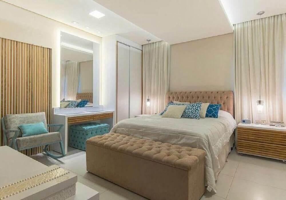 puff baú grande para quarto com decoração neutra