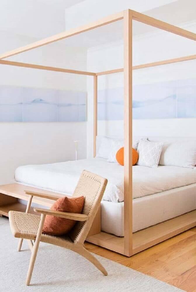 quarto com cama estilo japonesa