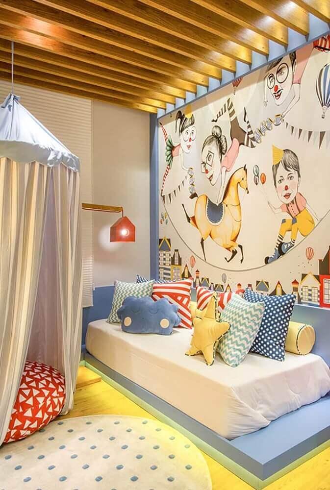 quarto infantil com cama japonesa de solteiro