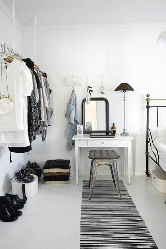 quartos decorados femininos com estilo clean e minimalista