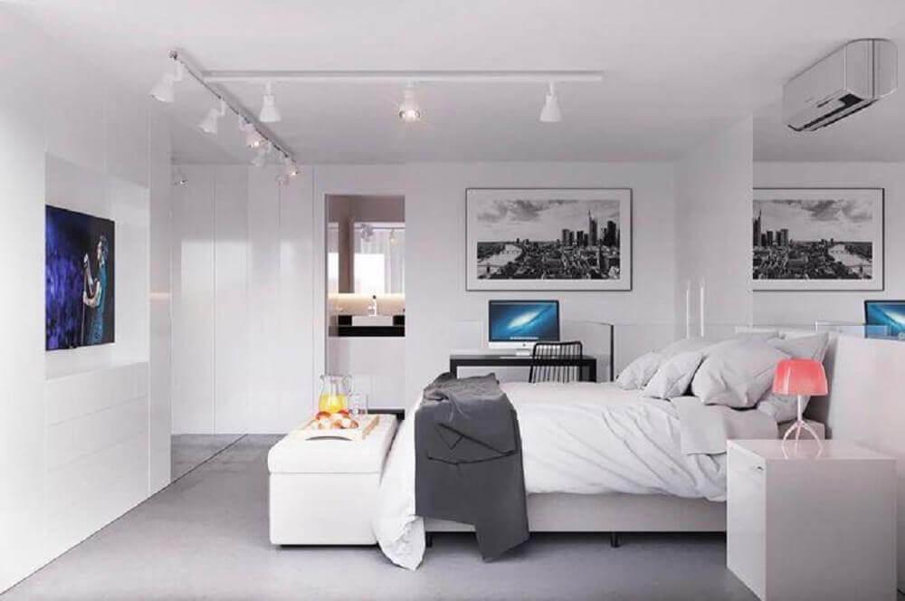 recamier branco para quarto