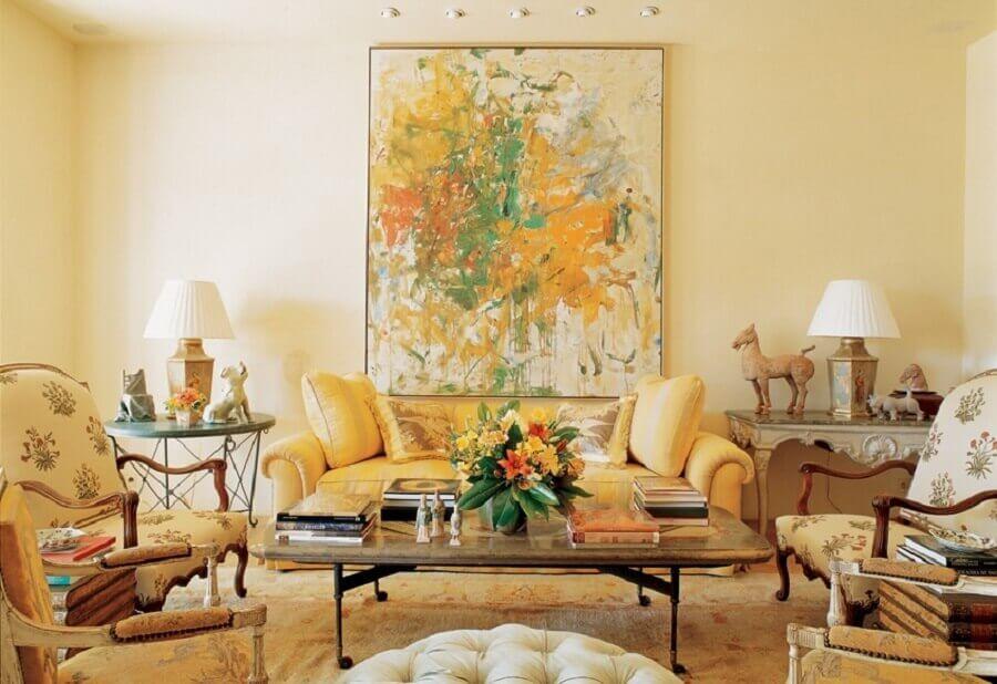 sala de estar com decoração provençal