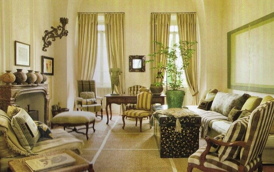 sala com decoração provençal