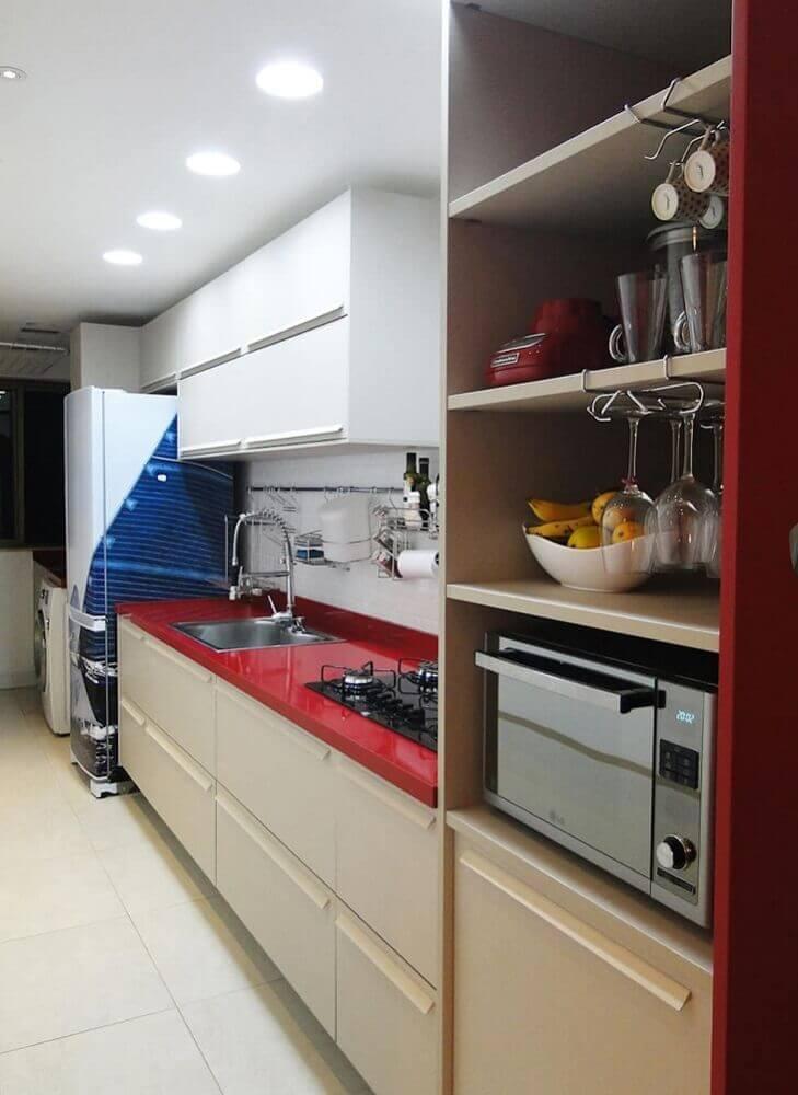 silestone vermelho para cozinha simples
