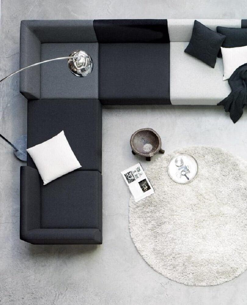 sofá de canto com design moderno