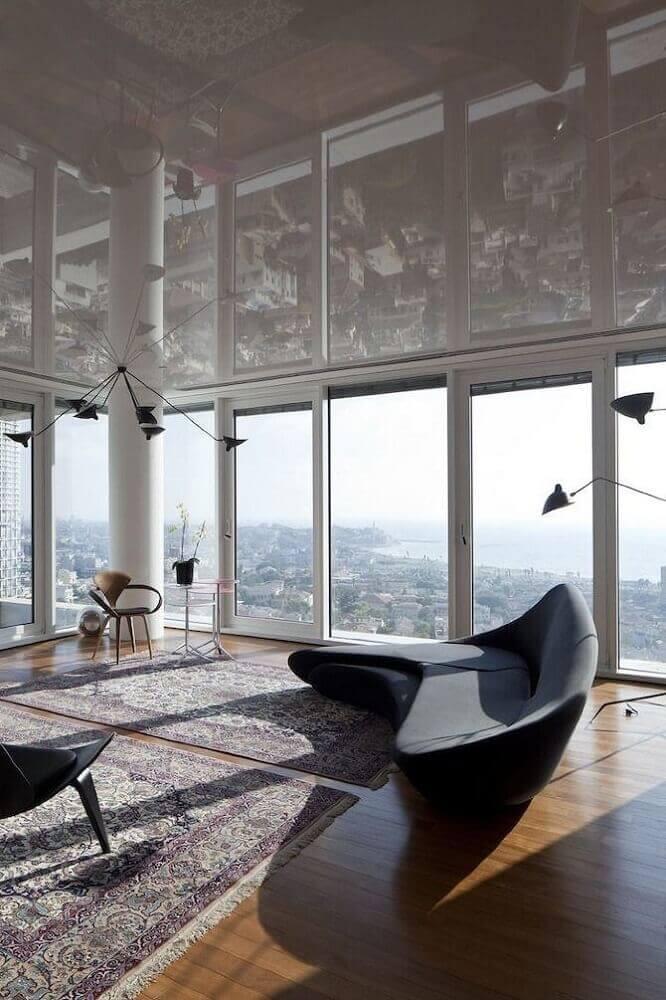 sofá moderno com design arrojado