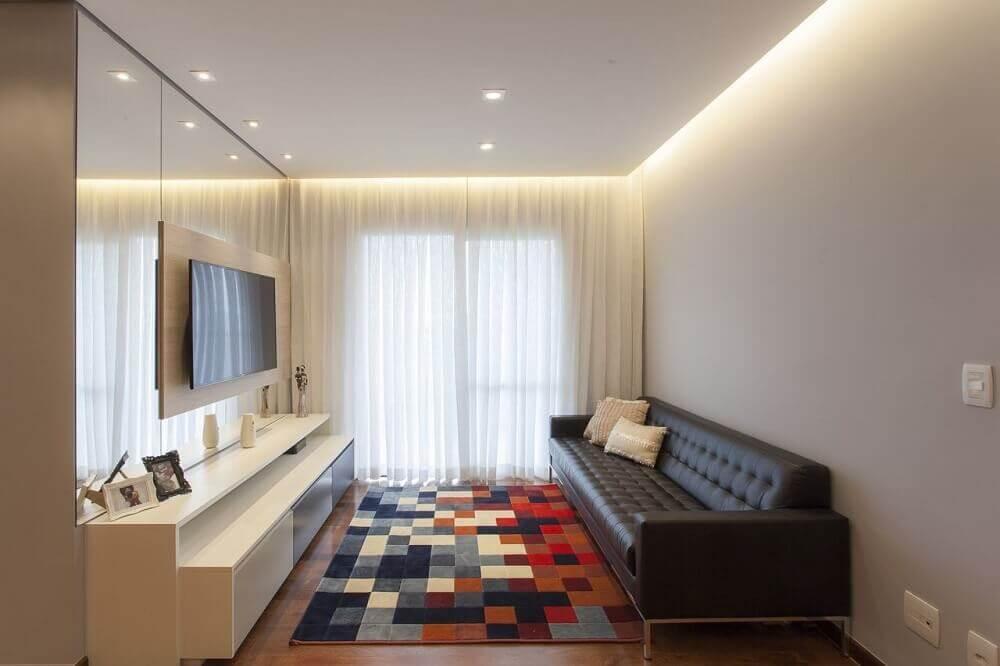sofá para sala pequena com tape