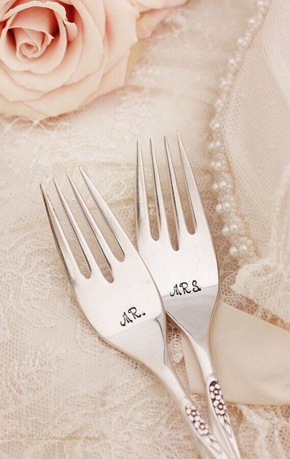 talheres personalizados de lembrancinhas para casamento