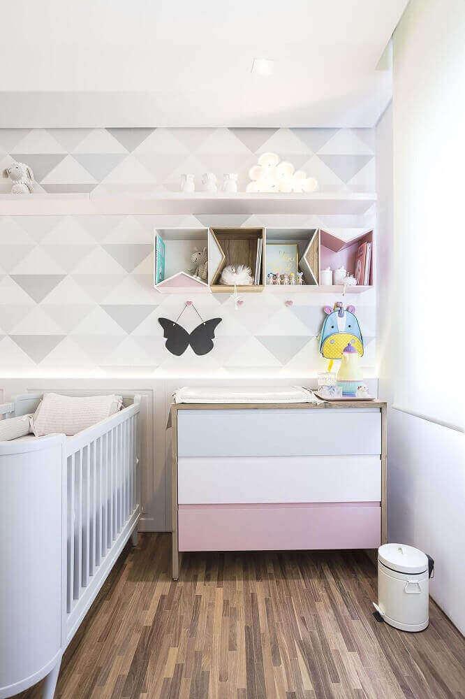 Tema neutro para decoração de quarto de bebê feminino