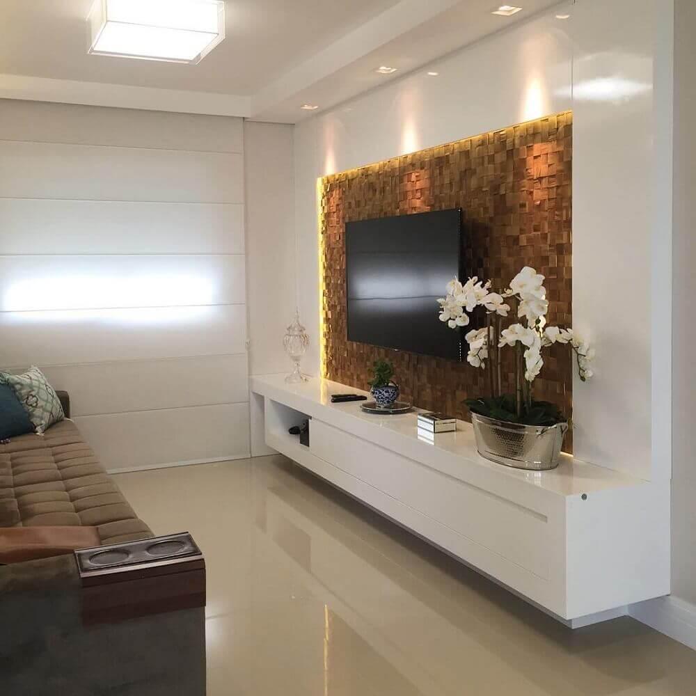 textura em painel para sala de estar