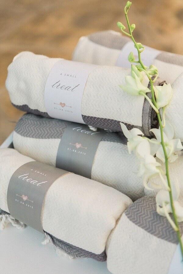toalhas para lembrancinhas de casamento