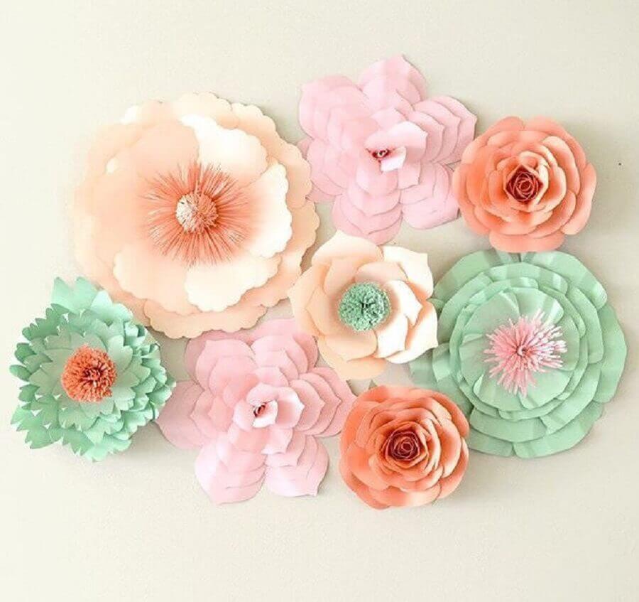 tom suave para maxi flores de papel