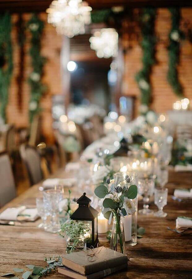 candles for rustic wedding decoration Foto Ideias Decor