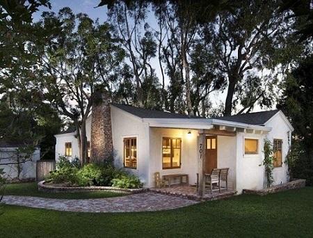 23 –Construção de casa simples com lareira.
