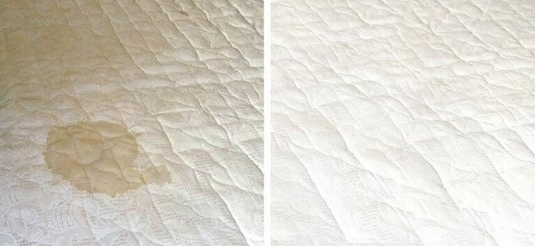 Antes e depois de como limpar cama box