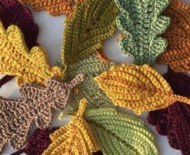 Aprenda como fazer folhas de crochê em casa