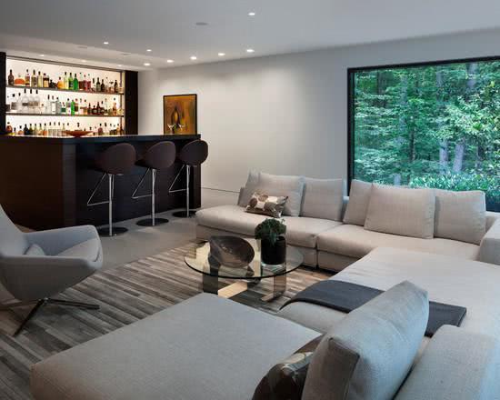 Barzinho para sala de estar moderna