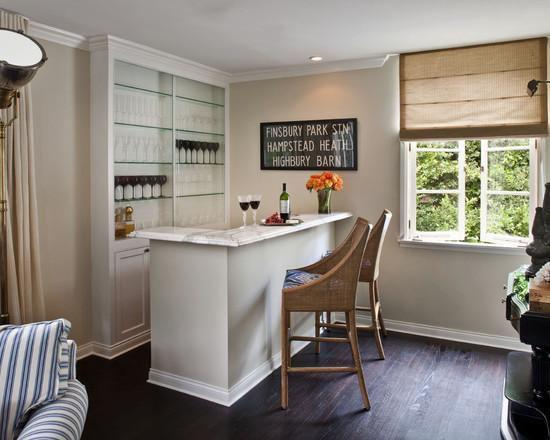 Barzinho para sala pequena em estilo elegante
